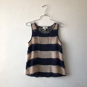 monteau sheer striped tank top